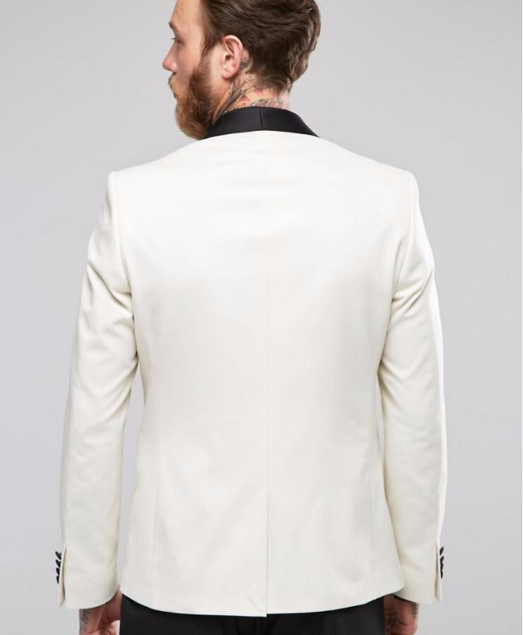 2 Blazer Dîner Custom Fit Linyixun Formelle Pièces Meilleur Homme Mariage As Smokings Picture Bal Costumes Hommes Made De Revers Slim Blanc Mâle Noir Zw4wYqpxT