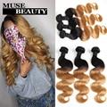10A Brazilian Body Wave Ombre Bundles 1B 27 Ombre Virgin Hair Weave 3 Bundles queen weave beauty Blonde Brizilian Body Wavy Hair