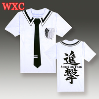 Japanese Attack On Titan T Shirt Cosplay Costume Shingeki No Kyojin Cartoon T Shirt Wings Of