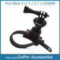 camera accessories Zip hero3 mount With Tripod Adapter & Screw for GoPro Hero 3+/3/2/1 sj4000 To Mount on Helmet Bike Motorbike