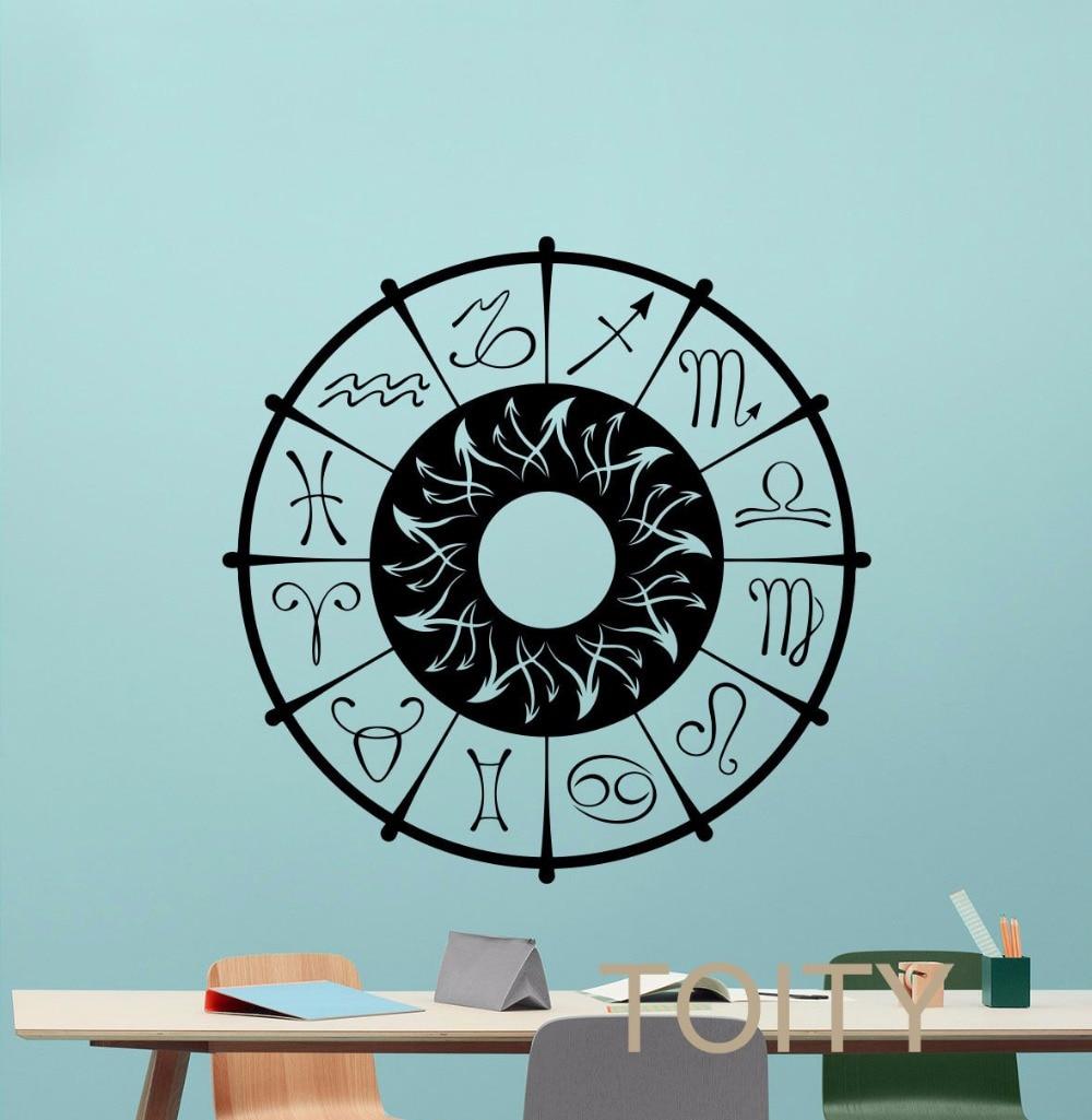 Walls Decoration 12pcs Glow In the Dark Horoscope Star Zodiac Signs