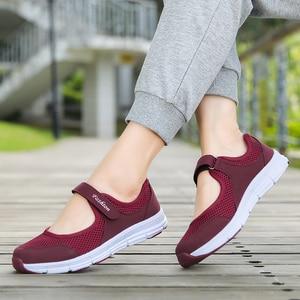 Image 2 - קיץ לנשימה נשים סניקרס בריא הליכה מרי ג יין נעלי ספורטיבי Mesh ספורט ריצה אמא מתנה אור דירות 35 42 גודל