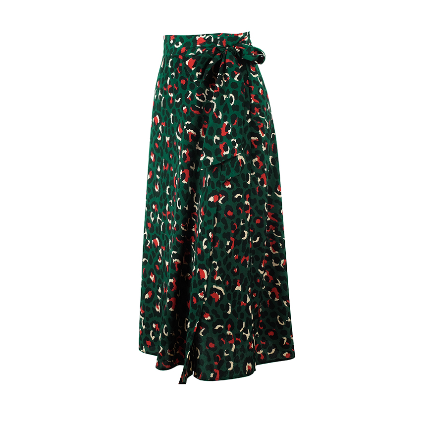 HTB1xQ4ha4 rK1RkHFqDq6yJAFXa3 - OOTN Vintage Leopard Print Long Skirts Women High Waist Midi Skirt Bow Tie Summer Sexy Split Wrap Skirt Ladies Green Beach