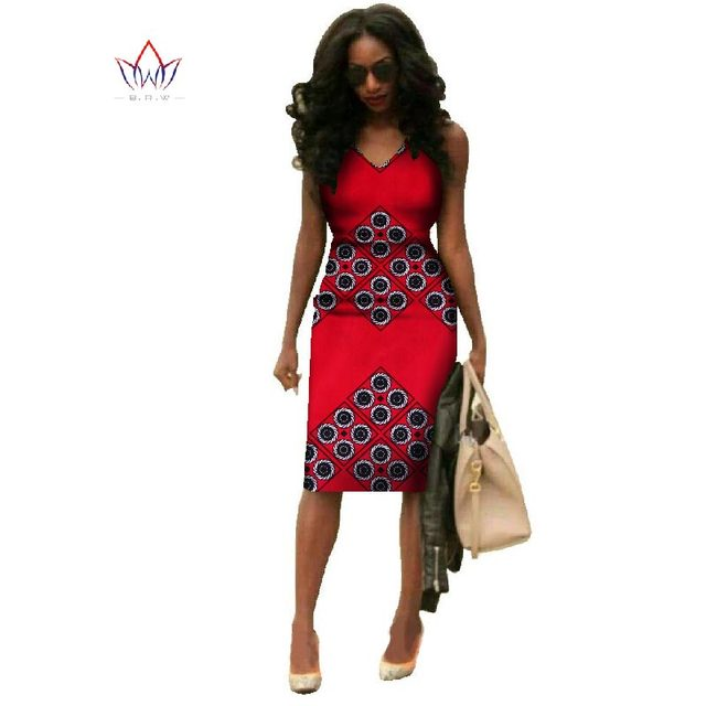 Vestidos 2018 African Dresses For Women Dashiki Plus Size Fashion African Wax Print Dresses Bazin Riche Africa Dresses WY237 2