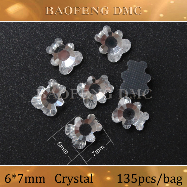 2014 Real Rhinestone Chain New Bear Shaped Rhinestones 6 7mm 135pcs bag  High Quality e58a1cf3a2db