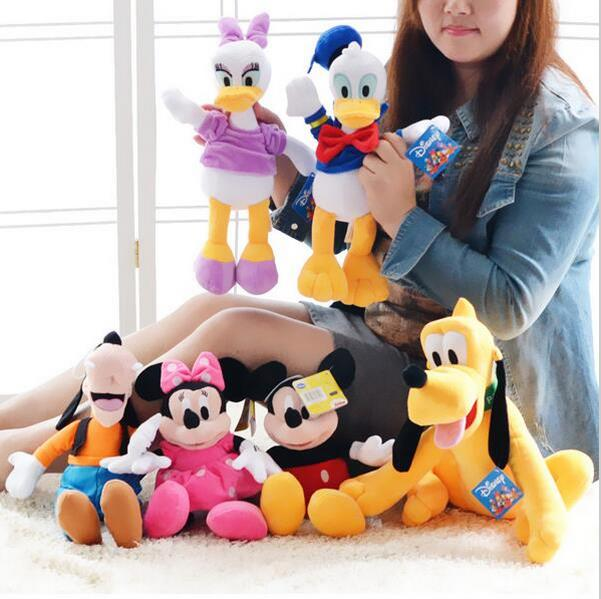 6pcs/set Plush Doll Mickey and Minnie Mouse Donald Duck Daisy Pluto Dog Plush Animal Toys Best Gifts for Children 1 piece 35cm 13 7 mickey mouse plush toys doll for kids gifts