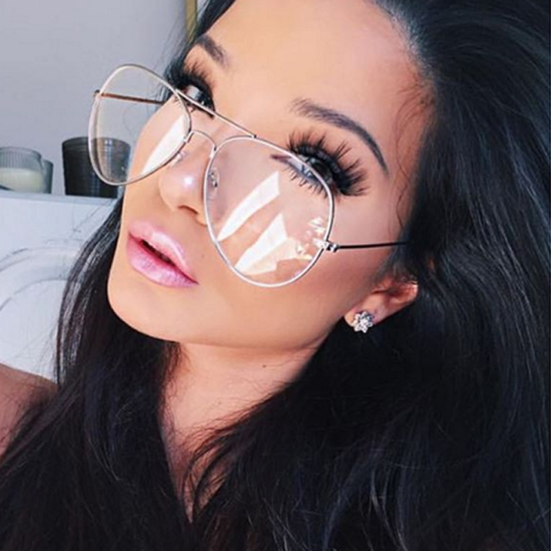 27db98c5e8 Latest Aviation Alloy Metal Frame Sunglasses Classic Optics Eyeglasses  Transparent Clear Lens Women Men Eye glasses