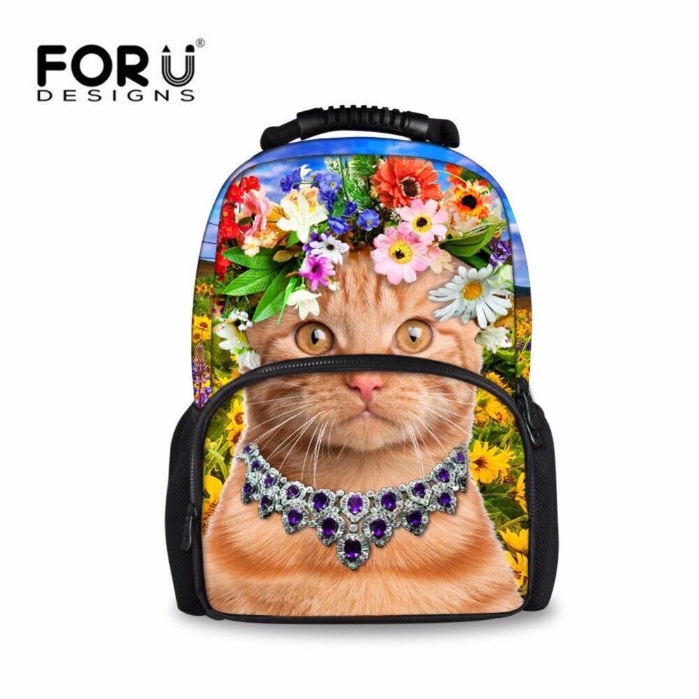 FORUDESIGNS Large Cat Backpack for Teenager Girl Women Satchel Shoulder Bag School Rucksack New Arrival Travel Backpacks Fashion