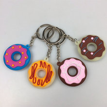 3D Styles Doughnut Key Chains Gifts promotional gifts key chains Rubber holder