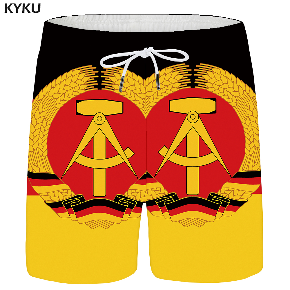 KYKU Brand City Shorts Men Black Casual Shorts Cargo Flag 3d Printed Short Beach Mens Short Pants 2018 New Summer High Quality