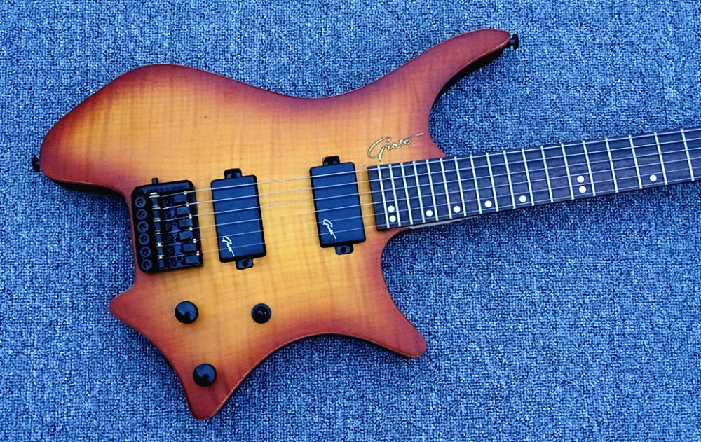 2016 new factory strandberg boden os6 6 strings sunburst finish headless electric guitar. Black Bedroom Furniture Sets. Home Design Ideas