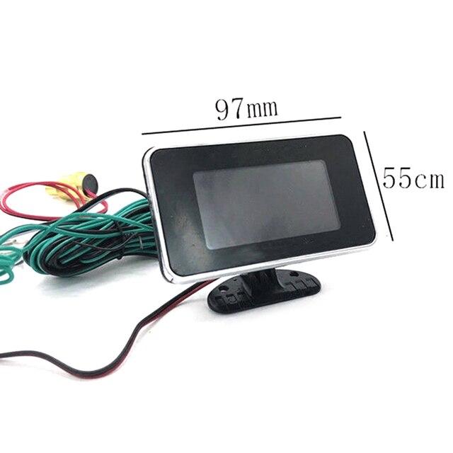 4 in 1 LCD Digital Öl Druck Voltmeter Wasser Temperatur Öl Tankanzeige heißer