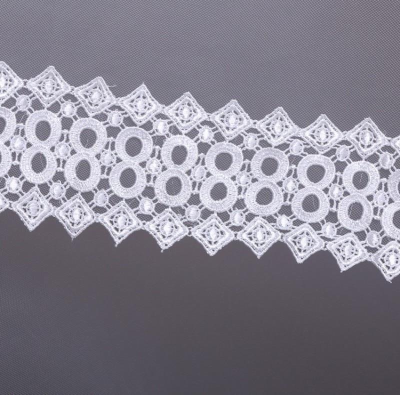 Роскошный собор one-слои кружева аппликации край тюль краткое вуали свадебные аксессуары