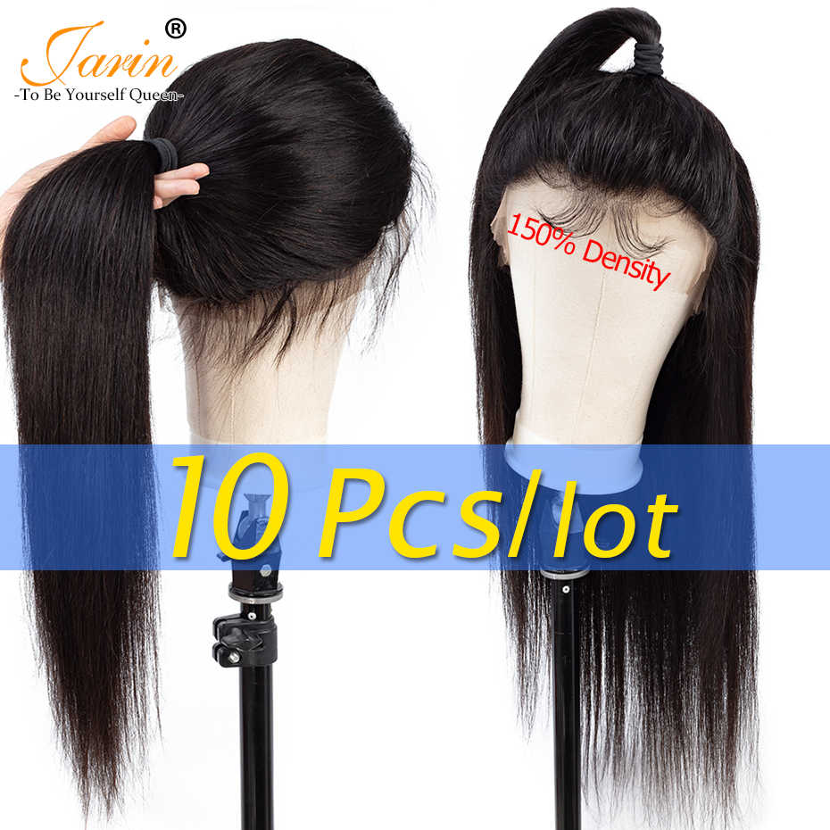 10 Pieces/lot Brazilian Human Hair Wigs 150% Density Lace Frontal 360 Lace Front Wigs Pre Plucked Straight Hair Wig Jarin Hair