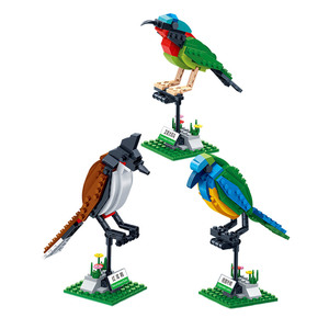 Image 5 - BanBao Building Blocks 3 Birds Set Animal Cognition Bricks with stickers Educational Toys Model for Kids Children Gift 5123