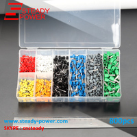 Mixed Color 800Pcs Electrical Wire Connector 20 10 KWG Copper Insulated Cord Pin End Crimp Terminals