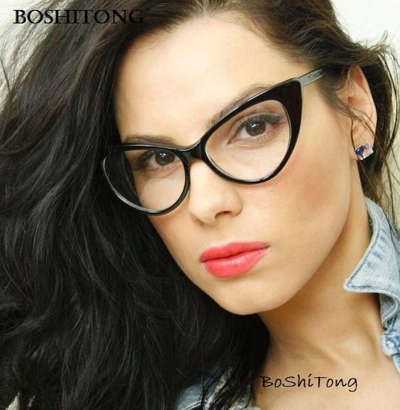 673f23136249 Vintage Ladies Eyeglasses Cat Eye Clear Glasses Frame Luxury Brand Design Glasses  Women Eyewear Frames Optical Spectacle Frame