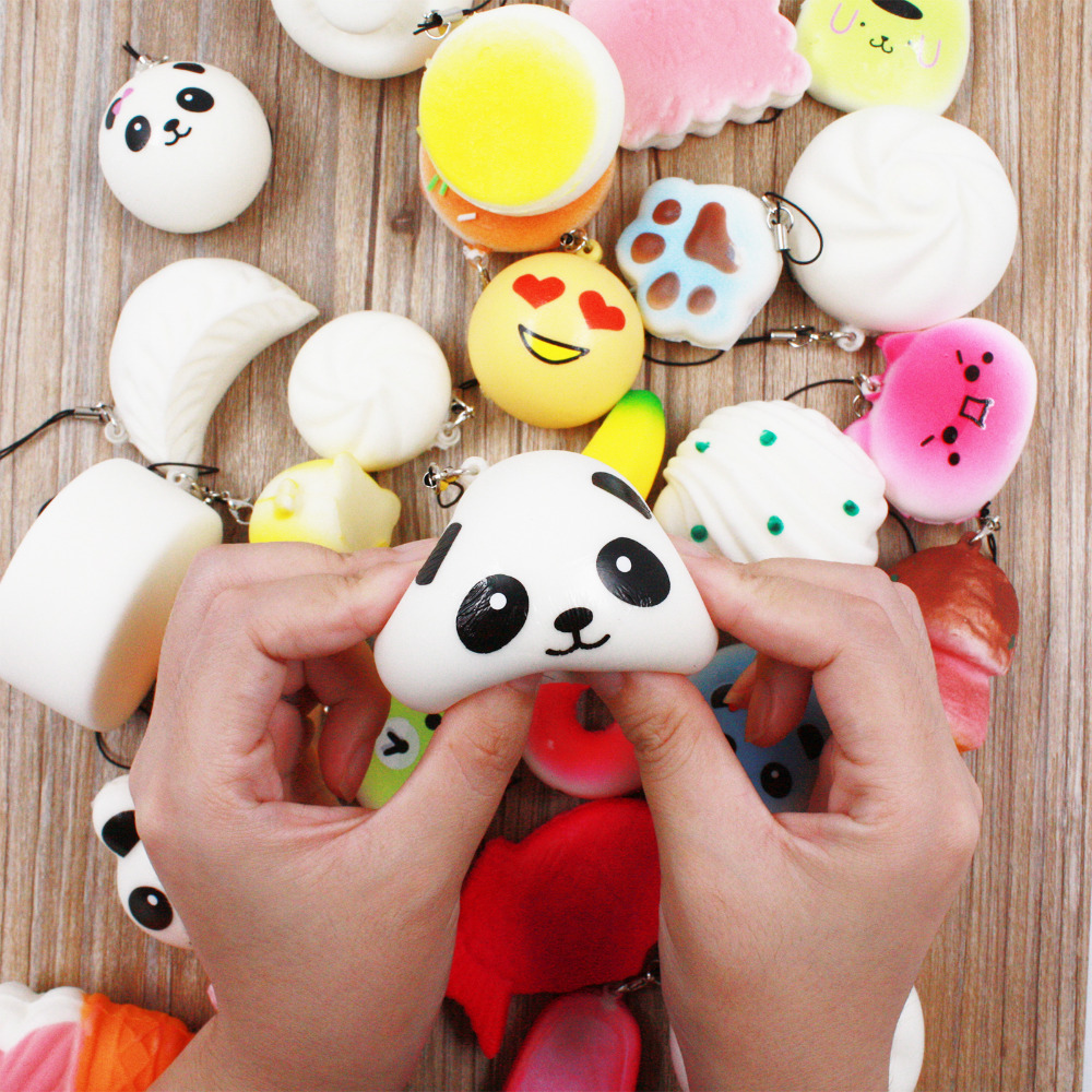 30pcs DIY Cute Mini Kawaii Kawaii Squishy Jumbo Panda Bun Slow Rising Squishy Cute Soft Mini ...
