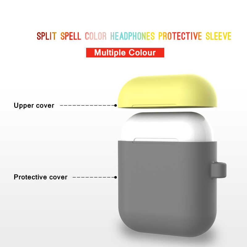 16 Colors Silicone Cases For Apple AirPods Charging Box Case Air pods Protective Sleeve For Wireless Bluetooth Earphones Cover