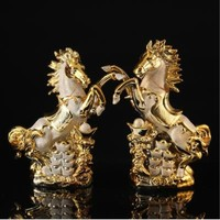 Lucky ceramic horse decoration crafts, European desktop decoration trinkets
