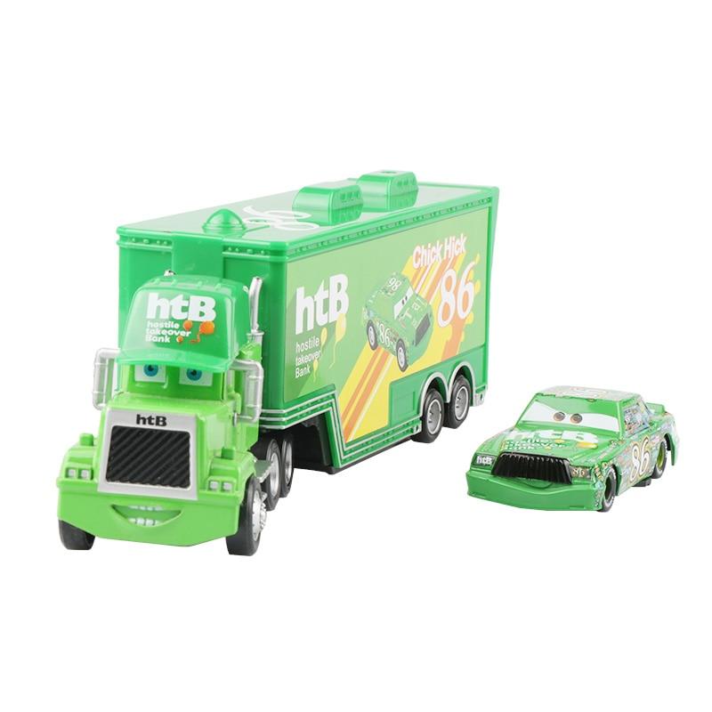 Дисней Pixar Тачки 2 3 игрушки Молния Маккуин Джексон шторм мак грузовик 1:55 литая модель автомобиля игрушка детский подарок на день рождения - Цвет: Two cars G