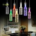 Venda quente da bolha luz pingente restaurante luz arte pingente lâmpada pingente de cristal levou lâmpada garrafa criativo Bar droplight