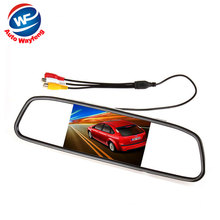 Car HD Video Auto Parking Monitor, LED Night Vision Reversing CCD Car Rear View Camera With 3.5 inch Car Rearview Mirror Monitor(China)