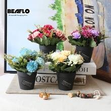 1Set τεχνητό λουλούδι γαρύφαλλο ψεύτικο Floral γλάστρες μπονσάι για γάμο σπίτι κόμμα διακοσμητικά 4 χρώματα B3106B