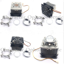 1pc Aluminium Heat Sink Cooling Fan 20W 50W 100W High Power Led Light 80degree 44mm Lens +Reflector +Bracket