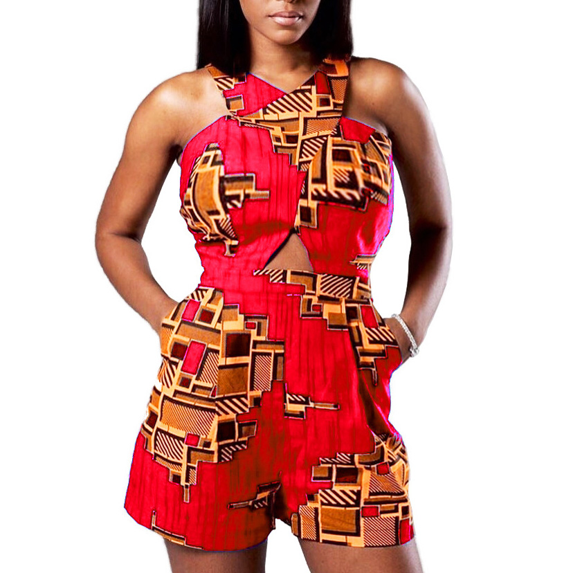 14e847913353 HAOOHU Sexy Playsuits African Ethnic Summer Overalls 2018 New Rompers  Womens Jumpsuit Casual Bodycon One Pieece
