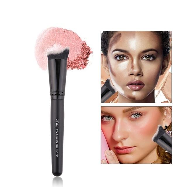 Herramienta para pincel de Ojos de maquillaje de fibra artificial brocha de ángulo cónico para sombra de ojos de cejas herramienta de labios Q1