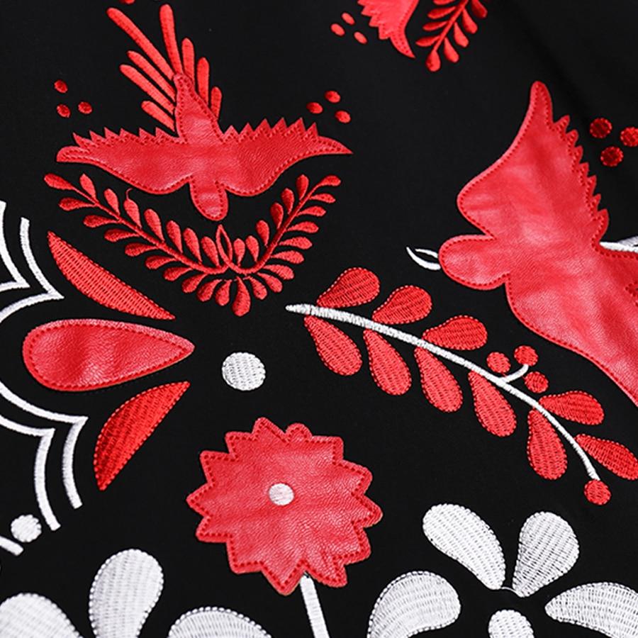 Haute ligne Roosarosee taille Jupe Lourd Noir Femmes Printemps Nouvelle Rouge Broderie Multi Mi Été mollet Mince 2019 Jupes Concepteur A 7dOqa