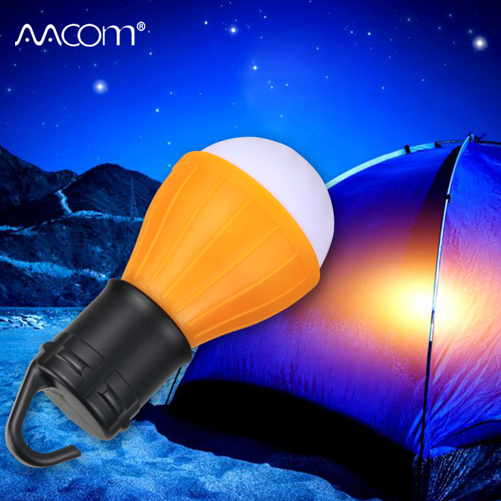 Portable LED Camping Lantern Waterproof AAA Battery Powered LED Diode Tent Lamp Outdoor Hiking Emergency Light Bulb