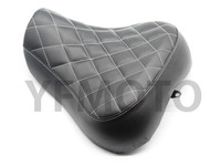 Motorcycle Black Low Profile Checker Stitch Solo Seat For Harley Sportster XL883 XL1200 1993 2003
