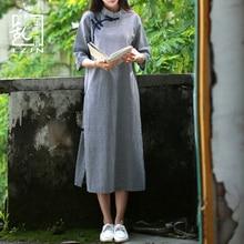 LZJN традиционное китайское платье для женщин летнее платье миди с рукавом до локтя современное клетчатое платье Ципао в восточном стиле винтажное платье