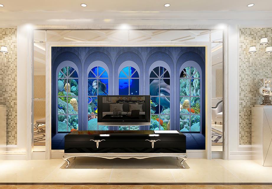 Benutzerdefinierte 3d luxus tapete Die unterwasserwelt 3d tapete ...
