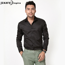 Spring New Men Black Shirt Long Sleeve Business Shirts Slim fit Chemise Homme Brand-Clothing Mens Casual Shirts