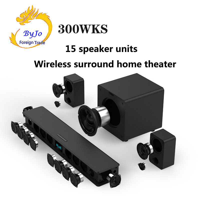 JY AUDIO 300KS TV audio set k song Bluetooth Speaker Wireless surround Household Super bass set 15 speaker units 5.1home theater
