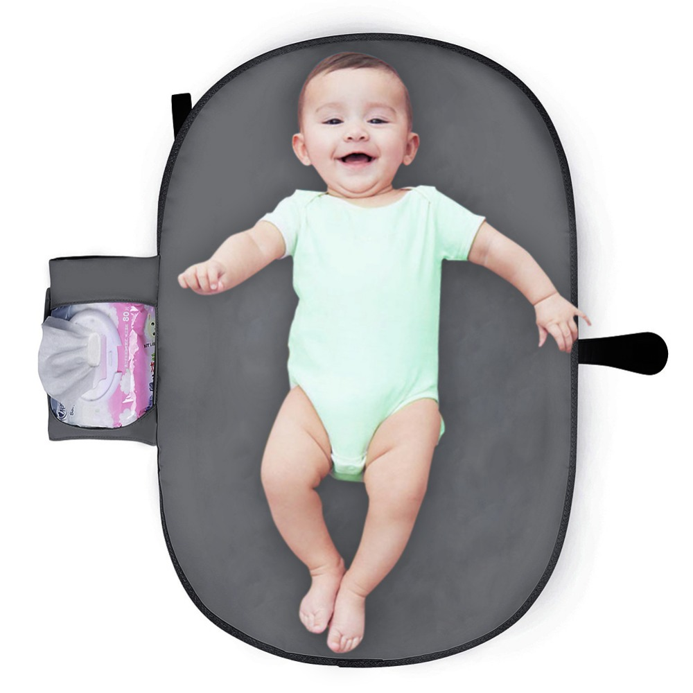 Qianquhui Hot Sale Waterproof Organic Reusable Infant Baby Diaper Changing Pad Portable Baby Care Diaper Pad