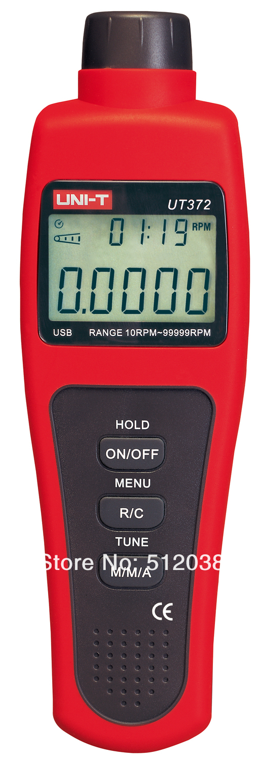 UNI-T UT372 USB Non-contact Digital  Tachometers meter 10 to 99,999 RPM uni t ut372 non contact laser tachometer with measuring range 10 to 99 999 rpm