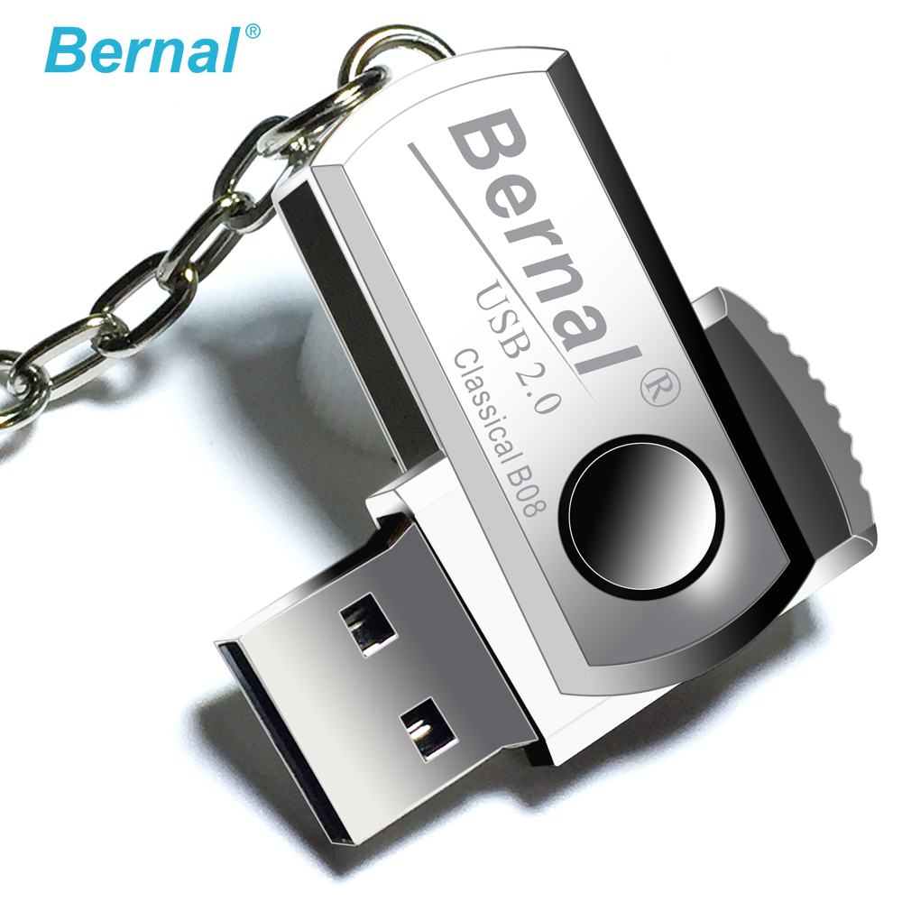 Bernal Stainless steel mini USB FLASH DRIVE 32GB pen drive high speed usb Flash 2.0 drive flash disk 16gb 64gb PEN DRIVE 8gb цена