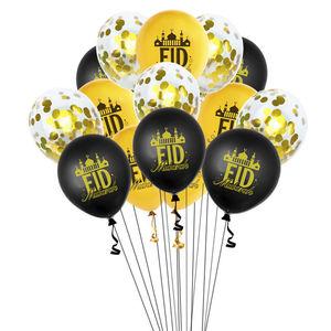 Image 5 - Ballons de décoration en Latex pour Eid Mubarak, 12 pièces/lot, ballon de décoration pour Eid ul Fitr Globos pour Ramadan Kareem