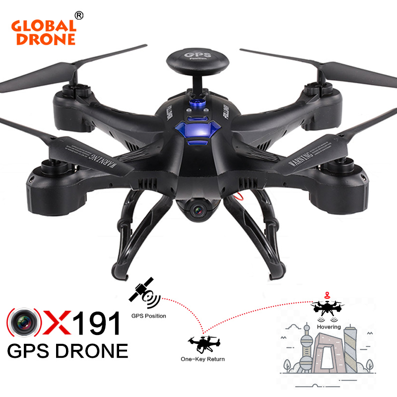 Global Drone X191 Quadcopter FPV Wifi RC helicopter GPS Dron with Camera HD Hover Quadrocopter GPS Drone VS SYMA X8PRO X183