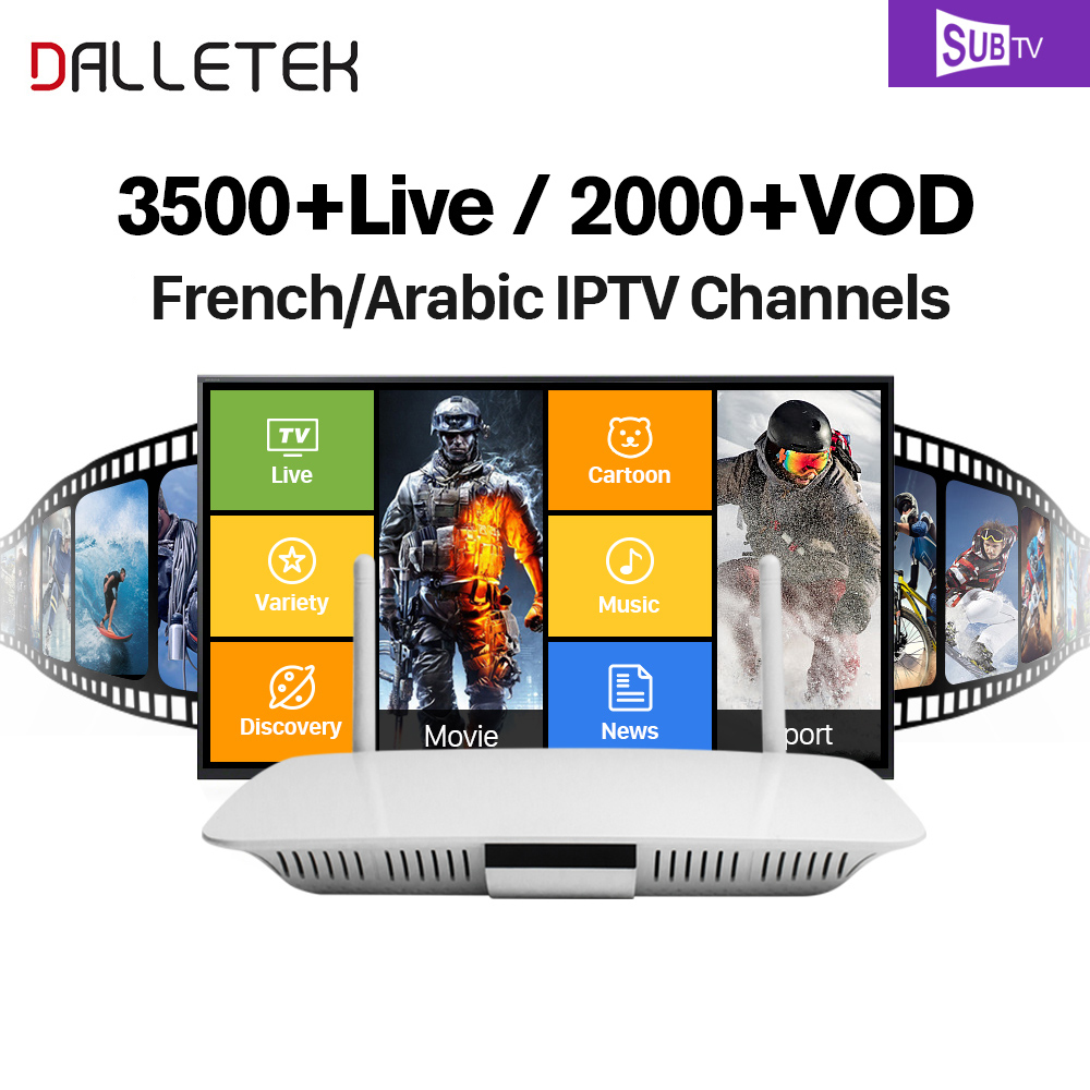 Dalletektv 1 Year Account IPTV Arabic French TV Box Android 6.0 Subtv APK IPTV Subscription French Arabic Channels IPTV Box x92 android iptv box s912 set top box 700 live arabic iptv europe french iptv subscription 1 year iptv account code