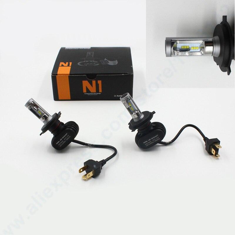 ФОТО All In One Led Fog Headlight 40w 8000lumens LED Headlitght kit h4 h13 9004 9004 LED Headlight Fog Driving Light KIT