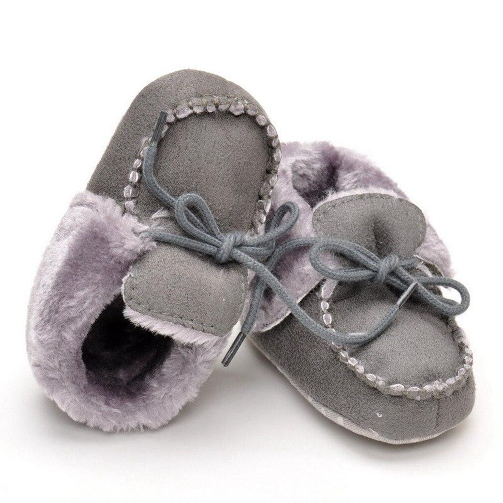 Téli baba mokaszinok Baba csizma gyapjú meleg rózsaszín cipő lányok újszülött puha talpas cipő fiú Bebes csizmák tanulás Walker