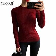 Primavera de las mujeres de invierno suéter de punto jersey 2019 Casual de  manga larga de cuello alto jerseys mujer 7 Slim Color. 3f8dbd064122