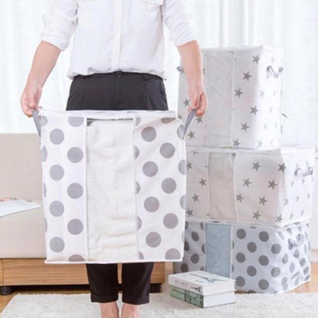Wonderful 2 Pattern 2size Vertical/horizontal Non Woven Fabrics Folding Clothes  Sweater Blanket Closet Organizer