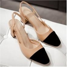 แบรนด์แฟชั่นผู้หญิงรองเท้าแตะรองเท้าผู้หญิงขนาดบวกรองเท้าG Ladiatorรองเท้าแตะตารางส้นรองเท้าแตะฤดูร้อนผสมสีTA065