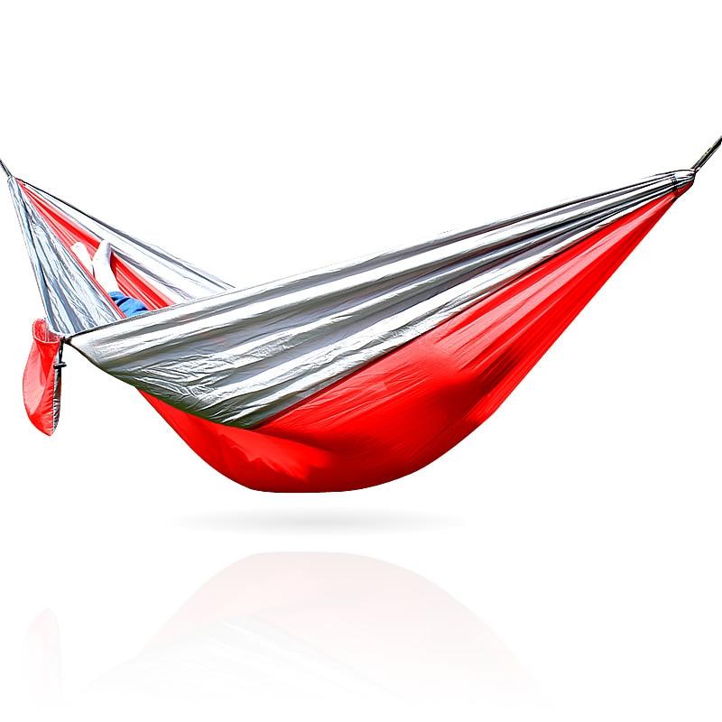 Parachute Nylon Fabric Outdoor Camping Hammock Garden Hammock Ultralight Picnic Hanging Beds Swing Sleeping Bag